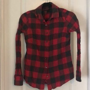 Jcrew plaid flannel perfect shirt